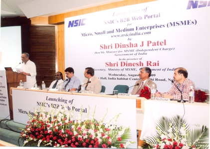 Shri. Dinsha J. Patel, Hon'ble Minister of MSMSE at www.nsicindia.com launch